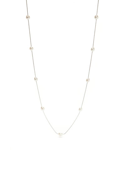 Belk Silverworks Fine Sliver Plated Fresh Water Pearl Collar Necklace