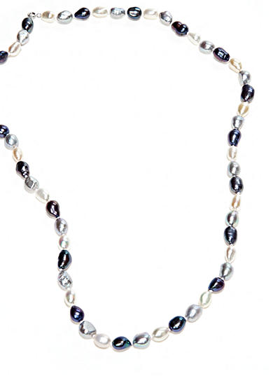 Belk Silverworks White Gray and Peacock Endless Necklace