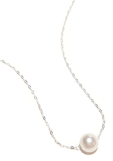 Belk Silverworks Chain Necklace with Pearls