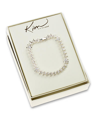 Kim Rogers® Clear Stone S Tennis Boxed Bracelet