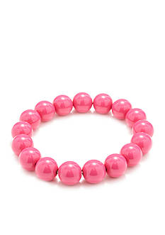 Kim Rogers Pink Lucite Stretch Bracelet