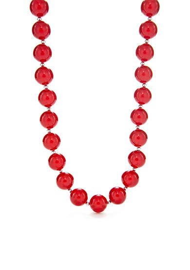 Kim Rogers® Red Bubble Bead Necklace