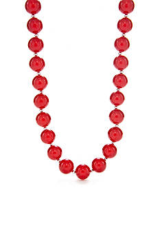 Kim Rogers Red Bubble Bead Necklace
