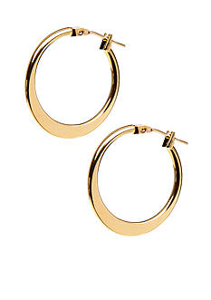 Kim Rogers Gold Thin Flat 14Kt Gold Filled Post Hoop Earrings