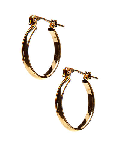 Kim Rogers® Gold-Tone Thin Oval 14Kt Gold Filled Post Hoop