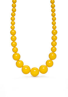 Kim Rogers Silver-Tone Yellow Lucite Collar Necklace
