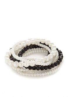 Kim Rogers Jet Pearl 7-Piece Stretch Bracelet