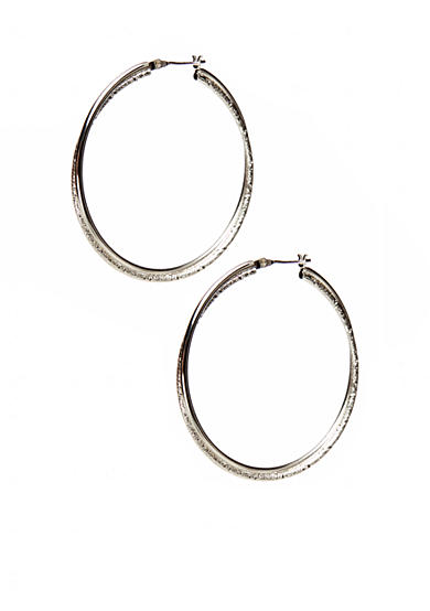 Kim Rogers® Silver 14Kt Gold Filled Post Triple Hoop