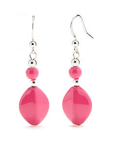 Kim Rogers Pink Lucite Drop Earrings