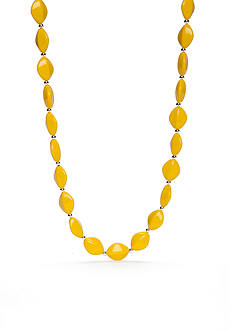 Kim Rogers® Silver-Tone Yellow Lucite Collar Necklace