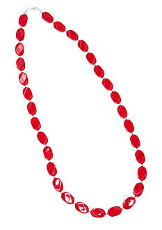 Kim Rogers® 30-in. Red Oval Wafer Necklace