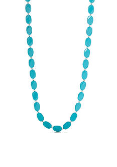 Kim Rogers Silver-Tone Turquoise Lucite Necklace