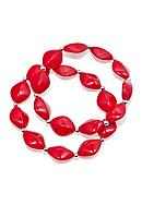 Kim Rogers® Red Oval Bead And Silver Spacers