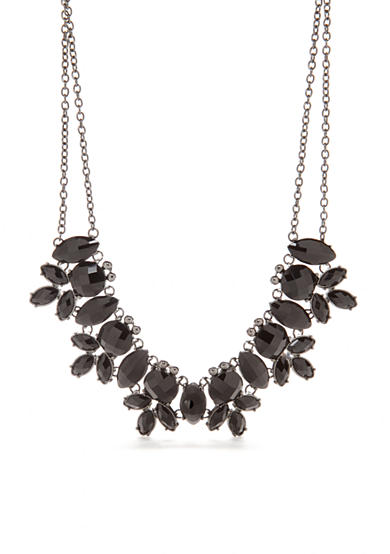 Kim Rogers® Hematite-Tone Large Statement Necklace
