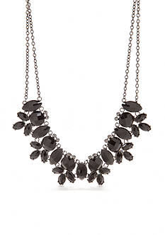 Kim Rogers Hematite-Tone Large Statement Necklace