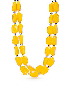 Kim Rogers Yellow Lucite Necklace