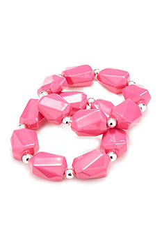 Kim Rogers Pink Lucite® Stretch Bracelet