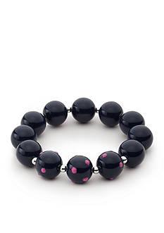 Kim Rogers Silver-Tone Pink Navy Stretch Bracelet