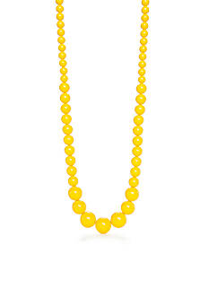 Kim Rogers Yellow Lucite Oversized Bead Necklace