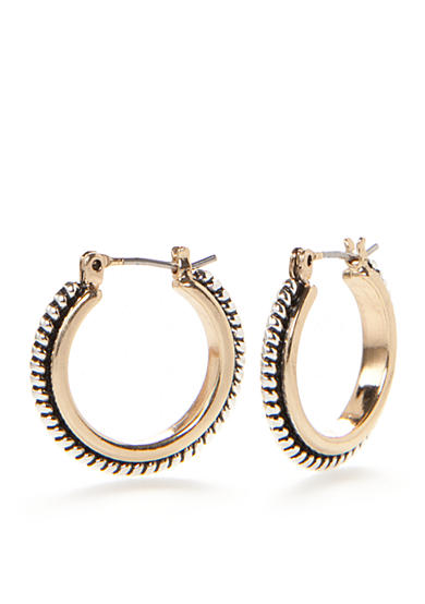 Kim Rogers® Two-Tone Sensitive Skin Florence Small Hoop Earrings