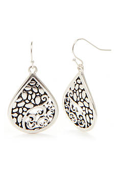 Kim Rogers® Silver-Tone Bali Filigree Sensitive Ear Earrings