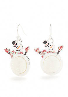 Kim Rogers Silver-Tone Holiday Drop Earrings