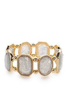 Kim Rogers Gold-Tone Threaded Gems Stretch Bracelet