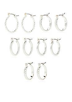 Kim Rogers Silver-Tone Hoops Set of Five Boxed Earrings