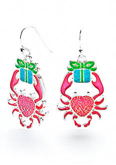 Kim Rogers Silver-Tone Lobster With Gift Earrings