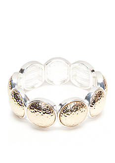 Kim Rogers Two-Tone Hammered Stretch Bracelet