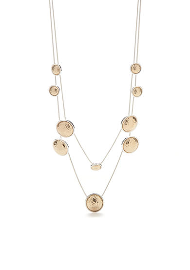 Kim Rogers® Two-Tone Hammered Layered Necklace