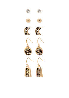 Kim Rogers Gold-Tone Bali Cubic Zirconia Boxed Earring Set
