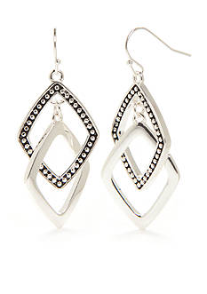 Kim Rogers® Silver-Tone Bali Sensitive Skin Drop Earrings