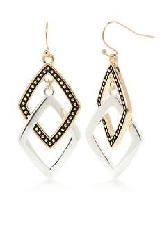 Kim Rogers Two-Tone Bali Interlocking Drop Earrings
