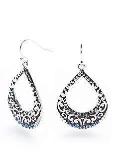 Kim Rogers® Silver-Tone Bali Sensitive Ear Chandelier Earrings