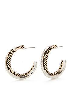 Kim Rogers Two-Tone Zoey C Hoop Earrings