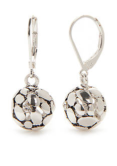 Kim Rogers Silver-Tone Ball Drop Earrings