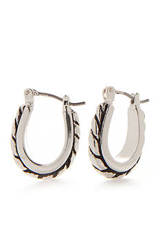 Kim Rogers® Silver-Tone Bali Sensitive Skin Huggie Hoop Earrings