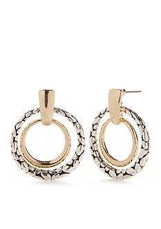 Kim Rogers Two-Tone Bali Sensitive Skin Ring Drop Earrings