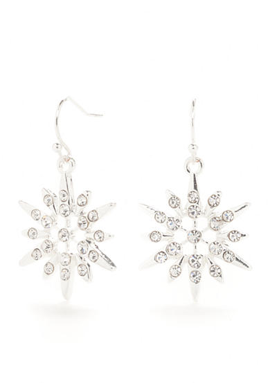Kim Rogers® Silver-Tone Holiday Drop Earrings