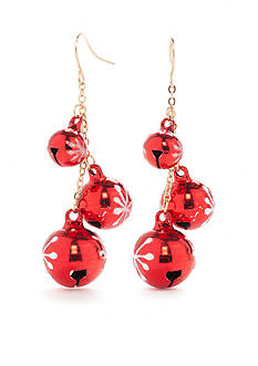 Kim Rogers Gold-Tone Holiday Drop Earrings