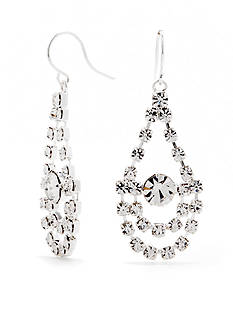 Kim Rogers® Silver-Tone with Crystal Chandelier Earrings