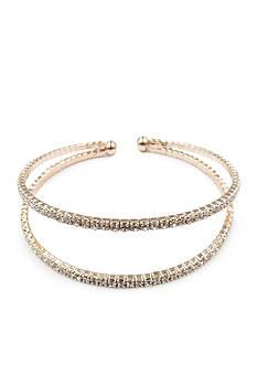 Kim Rogers Silver-Tone Crystal Cuff Bracelet