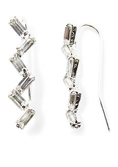 Kim Rogers Silver-Tone Crystal Ear Crawler Earrings