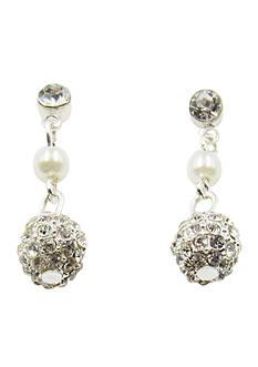 Kim Rogers Silver Fireball Drop Earrings