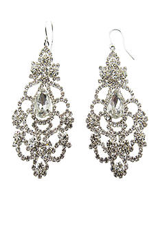 Kim Rogers® Silver Crystal Chandelier Earrings