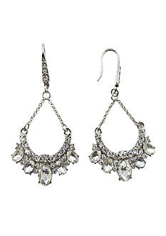 Kim Rogers® Silver Teardrop Chandelier Earrings