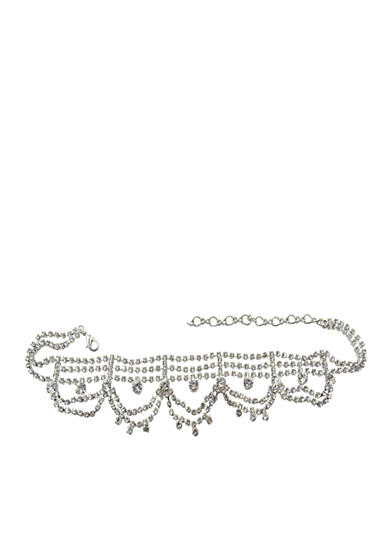 Kim Rogers® Silver Draped Choker Necklace