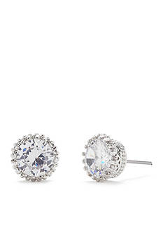 Kim Rogers® Textured Bezel Set Cubic Zirconia Stud Earrings