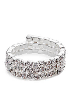 Kim Rogers® Three Row Crystal Coil Ring